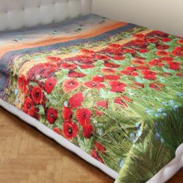 Маки (150*235 см) — покрывало декоративное