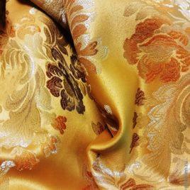 Версаль Крупный (золото) — ткань портьерная