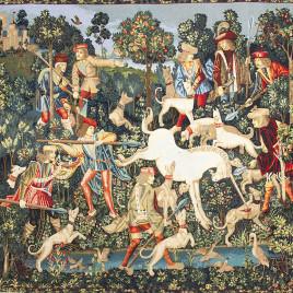 Единорог защищается (185*235 см) — скатерть декоративная на подкладке