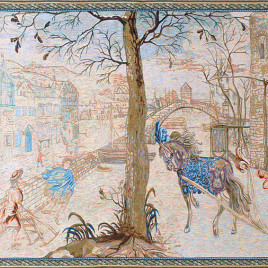 Зима (230х120 см) — панно гобеленовое на подкладке