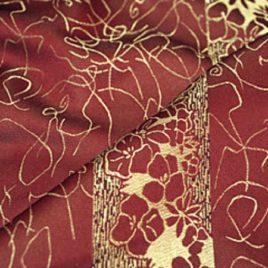 Паутинка (бордо) — ткань портьерная