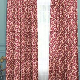 Амалия (бордо) 145х280 см — комплект штор