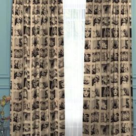 Инстаграм (беж) 145х280 см — комплект штор