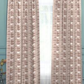 Контур (беж) 145*280 см — комплект штор
