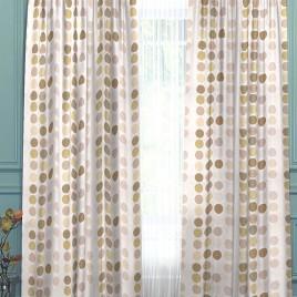 Круги (белый1) 145х280 см — комплект штор