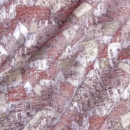 Крыши (бордо) — ткань портьерная