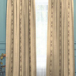 Верона (беж) 145х280 см — комплект штор