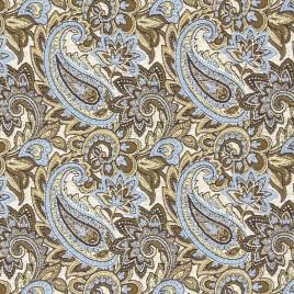 Восток мелкий (голубой) 150 см — ткань гобеленовая