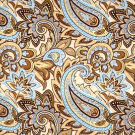 Восток крупный (голубой) 150 см — ткань гобеленовая