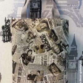 Газета Советская (36х45 см) — сумка гобеленовая