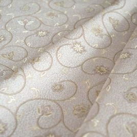 Арабески (белый) — ткань портьерная