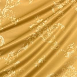 Ажурный лист (золото) — ткань портьерная