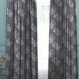 Фьюжн (серый) 145х280 см — комплект штор