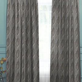 Латте (серый) 145х260 см — комплект штор
