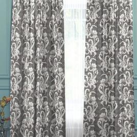 Муссон (серый) 145*280 см — комплект штор