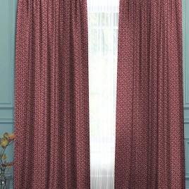 Сандал (бордо) 145*280 см — комплект штор