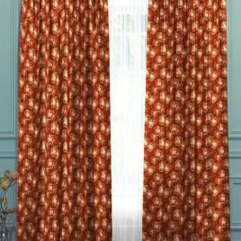 Абстрактная роза (терракот) 145*280 см — комплект штор