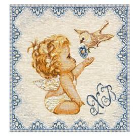 Ангел (25х25 см) — салфетка гобеленовая