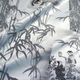Бамбук (чёрный) — ткань портьерная