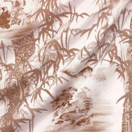 Бамбук (коричневый) — ткань портьерная