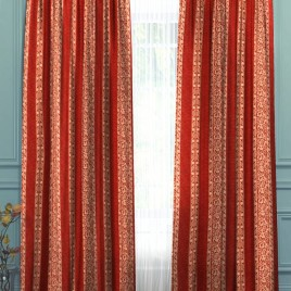 Камелия (терракот) 145*280 см — комплект штор