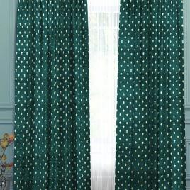 Лилия (изумруд) 145*280 см — комплект штор