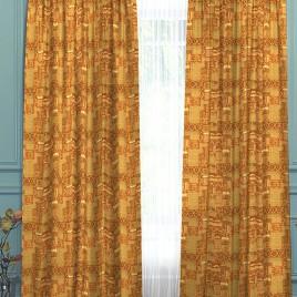 Луна (золото2) 145х280 см — комплект штор