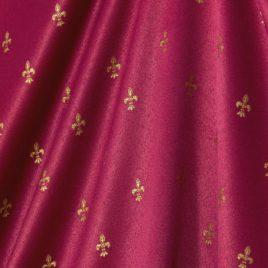 Мелкая лилия (бордо) 145*280 см — комплект штор