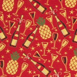 Шампань (красный) 150 см — ткань гобеленовая