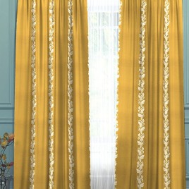 Арлон (золото) 145х280 см — комплект штор