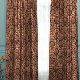 Калифорния (шоколад) 145х280 см — комплект штор