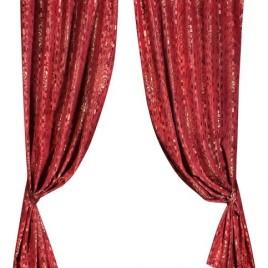 Климт (бордо) 145х280 см — комплект штор