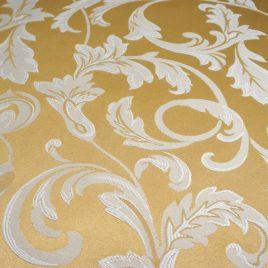 Крупный лист (золото) 145*280 см — комплект штор
