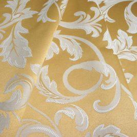 Крупный лист (золото) — ткань портьерная