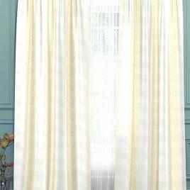 Лион (белый с золотом) 145*280 см — комплект штор