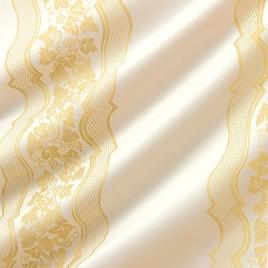 Лион (белый с золотом) — ткань портьерная