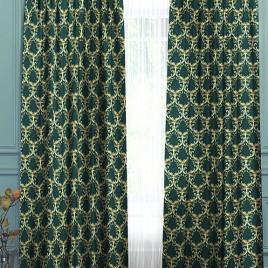 Лизетта (изумруд) 145х280 см — комплект штор