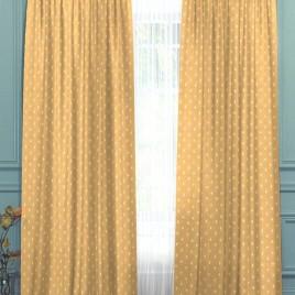 Мелкая лилия (песок) 145*280 см — комплект штор