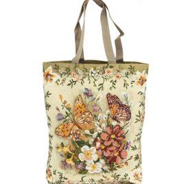 Пёстрая бабочка (37х42 см) — сумка гобеленовая