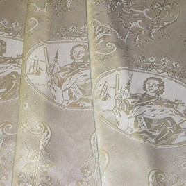 Пётр I (сливки) — ткань портьерная
