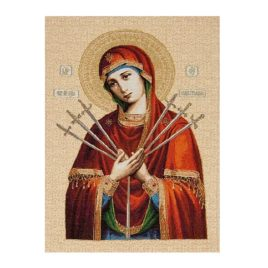 Пресвятая Богородица Семистрельная (36х50 см) — гобелен без рамки