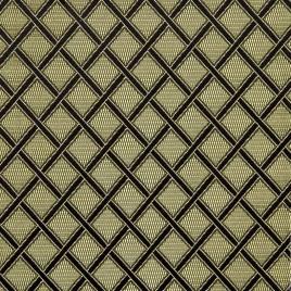 Саяны (чёрный с золотом) — ткань портьерная