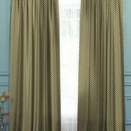 Саяны (чёрный с золотом) 145*280 см — комплект штор