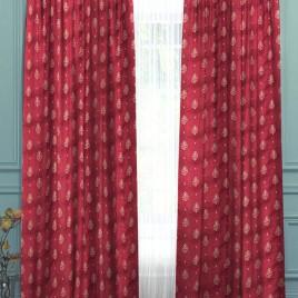 Традиция (бордо) 145*280 см — комплект штор