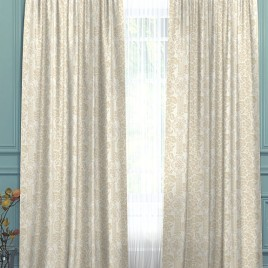 Виктория (белый/беж) 145*280 см — комплект штор