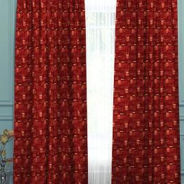 Звезда (бордо) 145х280 см — комплект штор