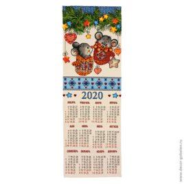 Варежки (23х70 см) — календарь гобеленовый 2020 г