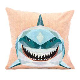 Акула (38х38 см) — наволочка декоративная