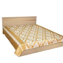 Альбина (золото) 250*220 см — покрывало декоративное