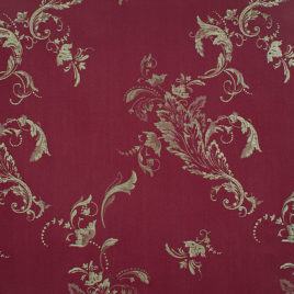 Ажурный лист (бордо) — ткань портьерная